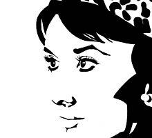 Audrey Hepburn by Sassy Bombassi