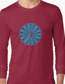 Mandala 36 Yin-Yang In To The Blue Long Sleeve T-Shirt
