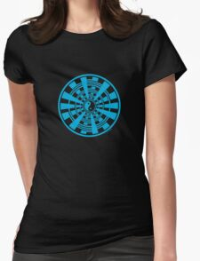 Mandala 36 Yin-Yang In To The Blue Womens Fitted T-Shirt