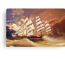 Cutty Sark in Heavy Seas Canvas Print