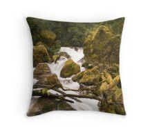 Cascades II Throw Pillow