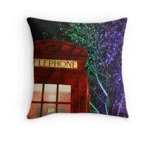 Telephone Box and Branches Throw Pillow