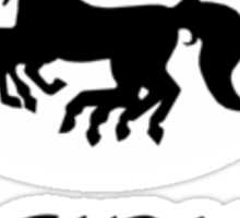 Sleipnir batman-esque logo Sticker