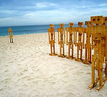 Sculptures At The Beach by Nico3