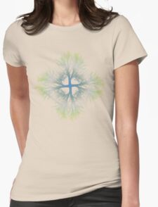 exponential bifurcation   gradient Womens Fitted T-Shirt