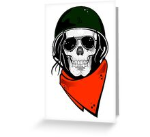 Military Skull Greeting Card