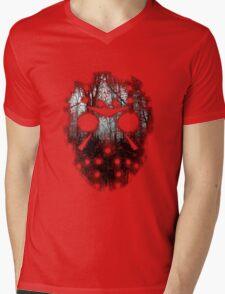 Mask of Hate Mens V-Neck T-Shirt