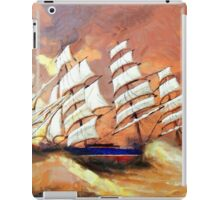 A digital painting of Cutty Sark in Heavy Seas iPad Case/Skin