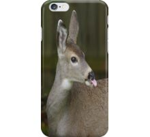 Deer Sticks Tounge Out iPhone Case/Skin