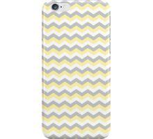 White, Yellow Gray Chevron Zigzag Pattern iPhone Case/Skin