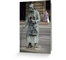 Anonymous Pedestrians Greeting Card