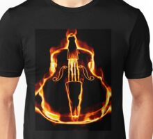 Classic violin in flame Unisex T-Shirt