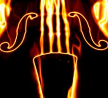 Classic violin in flame Sticker