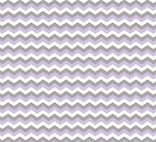 White, Purple & Grey Chevron Zigzag Pattern by TigerLynx
