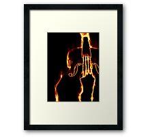 Classic violin in flame 3 Framed Print