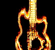 Electronic guitar in flames by AnnArtshock