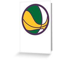 Classic Utah Basketball Greeting Card