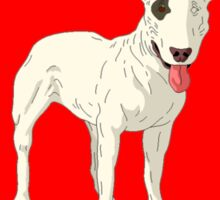 Bull Terrier Heart Sticker