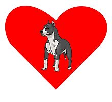 Bull Terrier Heart by kwg2200