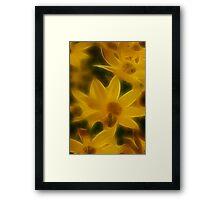 Hazy Yellow Framed Print
