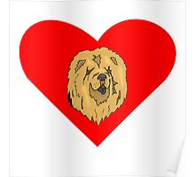Chow Chow Heart Poster