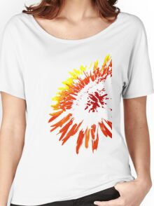Red Burst Women's Relaxed Fit T-Shirt