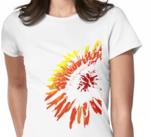 Red Burst Womens Fitted T-Shirt