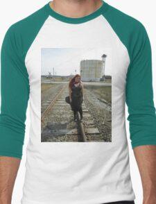 on the tracks  Men's Baseball ¾ T-Shirt