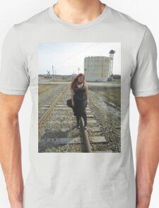 on the tracks  Unisex T-Shirt