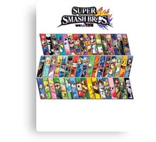 Super Smash Bros. 4 Characters Canvas Print