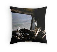 CH-47 Door Gunner Throw Pillow