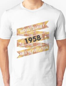 Highest Quality 1958 Aged To Perfection T-Shirt