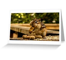 Chipmunk and Nut Greeting Card