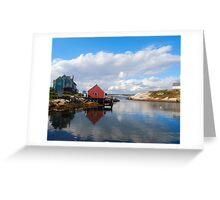 Peggy's Cove Harbor  Greeting Card