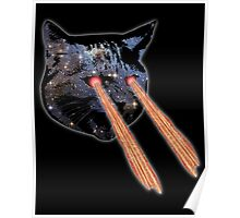 Cat Bacon Lasers  Poster