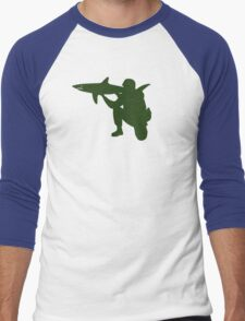 Shark Launcher Men's Baseball ¾ T-Shirt