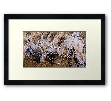 Water Meets Rock 1 Framed Print