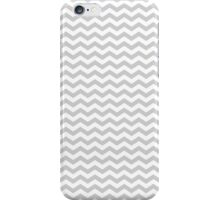 Gray White Chevron Zigzag Pattern iPhone Case/Skin
