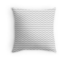 Gray White Chevron Zigzag Pattern Throw Pillow