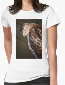 Red Tailed Hawk  Womens Fitted T-Shirt