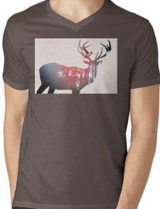 Deer & Bird Mens V-Neck T-Shirt