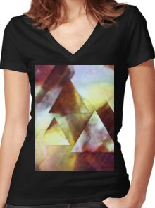 Slow Magic Women's Fitted V-Neck T-Shirt