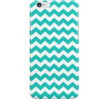 Turquoise and White Chevron Zigzag Pattern iPhone Case/Skin