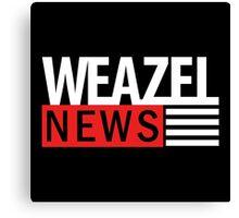 WEAZEL News - dark Canvas Print