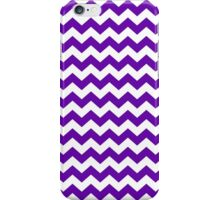 Purple White Chevron Zigzag Stripe Pattern iPhone Case/Skin