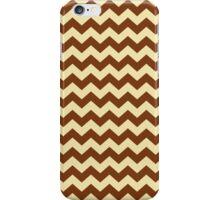 Brown Cream Chevron Zigzag Stripe Pattern iPhone Case/Skin