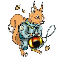 squirrel astronaut by Baipodo