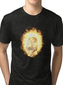 Flaming Head Tri-blend T-Shirt
