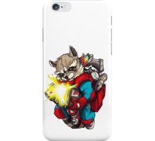 Raccoon with a bazooka rocket iPhone Case/Skin