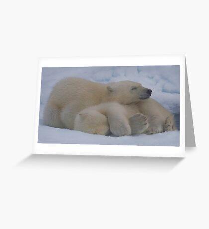 Cub Hug Greeting Card